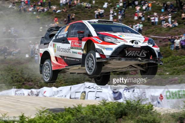 Jari Matti Latvala and Mikka Anttila in Toyota Yaris WRC of Toyota Gazoo Racing WRT in action during the SS10 Vieira do Minho of WRC Vodafone Rally...