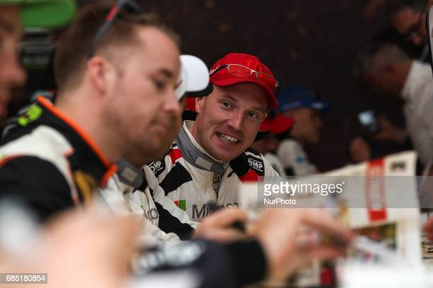 Jari Matti Latvala during the autograph session of WRC Vodafone Rally de Portugal 2017 at Matosinhos in Portugal on May 18 2017