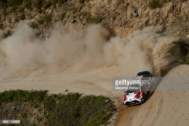 FARO PORTUGAL MAY Jari Matti Latvala of Filand and Mikka Anttila of Finland compete in their Toyota Gazoo Racing WRT Toyota Yaris WRC during Day Two...