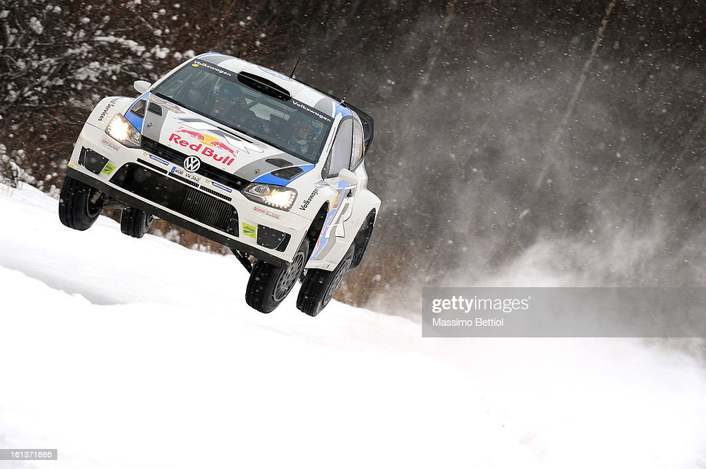 Jari Matti Latvala of Finland and Mikka Anttila of Finland compete in their Volkswagen Motorsport Volkswagen Polo R WRC during Day Three of the WRC Sweden on February 10 , 2013 in Karlstad , Sweden.