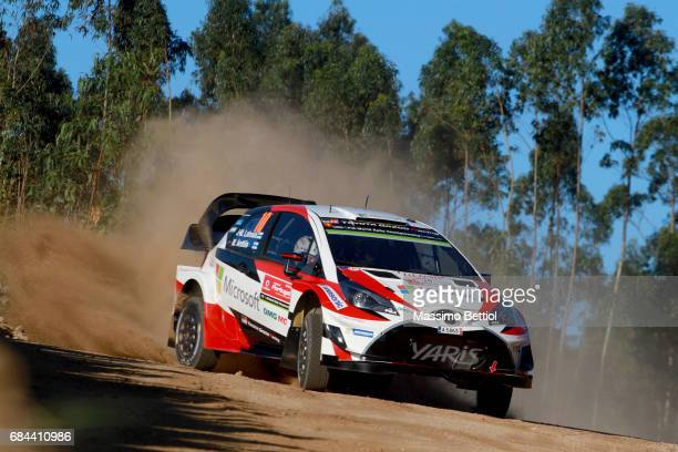Jari Matti Latvala of Finland and Mikka Anttila of Finland compete in their Toyota Gazoo Racing WRT Toyota Yaris WRC during the Shakedownof the WRC...
