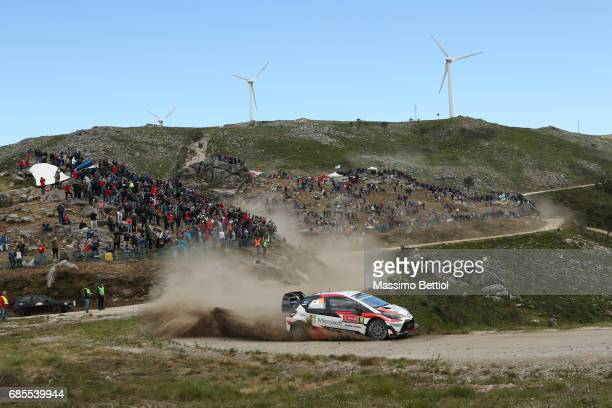 Jari Matti Latvala of Finland and Mikka Anttila of Finland compete in their Toyota Gazoo Racing WRT Toyota Yaris WRC during Day One of the WRC...