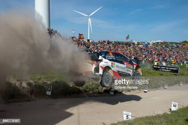 Jari Matti Latvala of Finland and Mikka Anttila of Finland compete in their Toyota Gazoo Racing WRT Toyota Yaris WRC during the SS16 Fafe of the WRC...