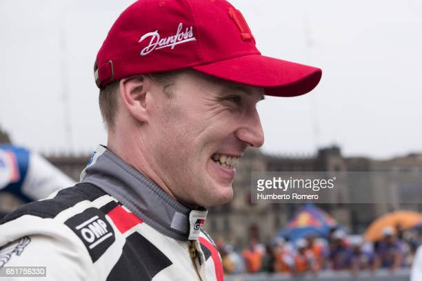 Jari_Mati Latvala smiles prior the Start And Super Special Stage of the WRC Mexico on March 09 2017 in Mexico City Mexico