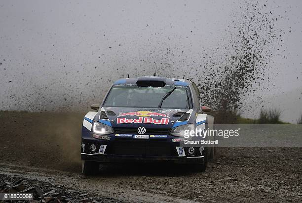 JariMatti Latvala and co driver Mikka Antilla of Finland and Volkswagen Motorsport during the FIA World Rally Championship Great Britain Sweet Lamb...