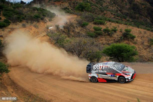 JariMatti Latvala and Miikka Anttila of Toyota Gazoo Racing WRT Team compete during the FIA World Rally Championship Mexico Day One on March 10 2017...
