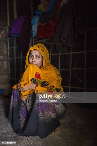 COX'S BAZAR BANGLADESH FEBRUARY 20 Jarina Khatun one of the women who were raped by Myanmar armed forces members takes shelter at Leda unregistered...
