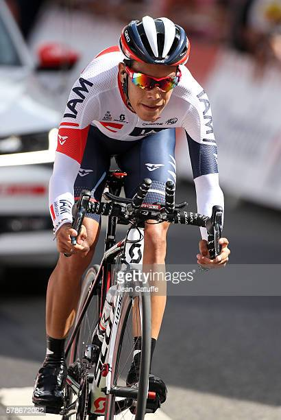Jarlinson Pantano of Colombia and IAM Cycling in action during stage 18 of the Tour de France 2016 a time trial of 17km between Sallanches and Megeve...