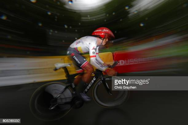 Jarlinson Pantano of Colombia and TrekSegafredo competes during stage one of Le Tour de France 2017 a 14km individual time trial on July 1 2017 in...