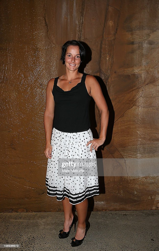 Jarmila Gajdosova of Australia poses during the official Hobart International tournament draw held at the MONA gallery on January 4, 2013 in Hobart, Australia.