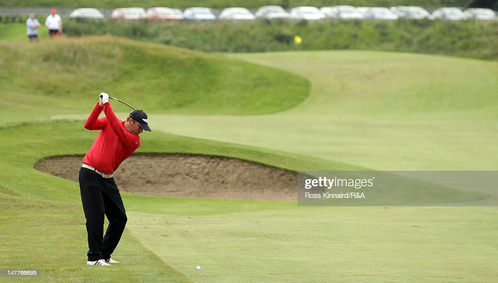 Jarmo Sandelin of Sweden during Local Final Qualifying for the 2012 Open Championship at St Annes Old Links on July 3 2012 in Lytham St Annes England