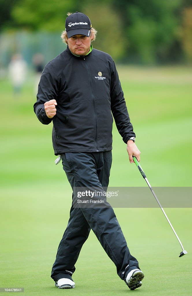 Jarmo Sandelin of Sweden during the final round of the Vivendi cup at Golf de Joyenval on September 26 2010 in Chambourcy near Paris France