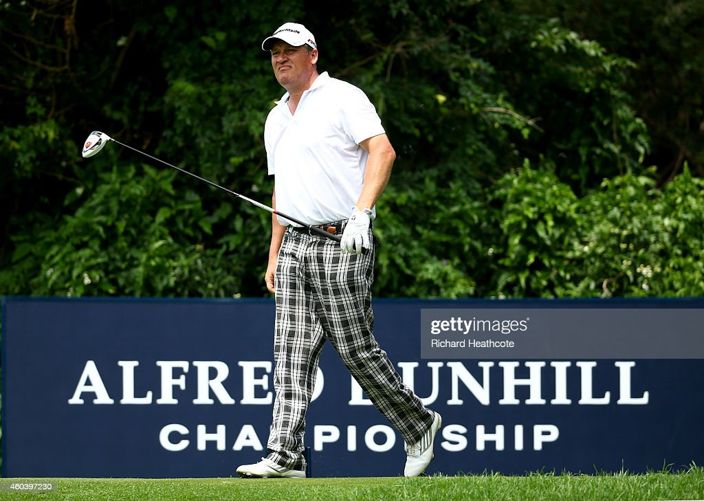Jarmo Sandelin of Sweden in action during the second round of the Alfred Dunhill Championship at Leopard Creek Country Golf Club on December 12 2014...