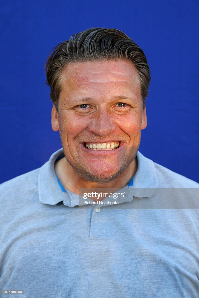 Jarmo Sandelin of Sweden poses for a portrait after the first round of the European Tour Qualifying School Final at PGA Catalunya Resort on November...