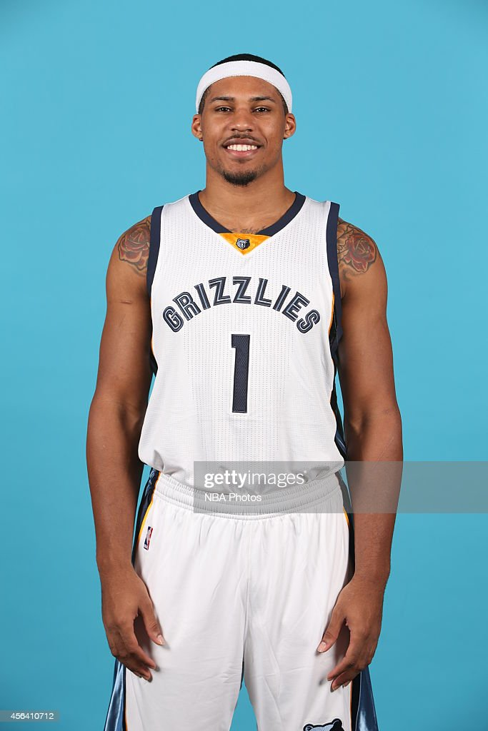 Jarnell Stokes #1 of the Memphis Grizzlies poses for a portrait during Memphis Grizzlies Media Day on September 29, 2014 at FedExForum in Memphis, Tennessee.