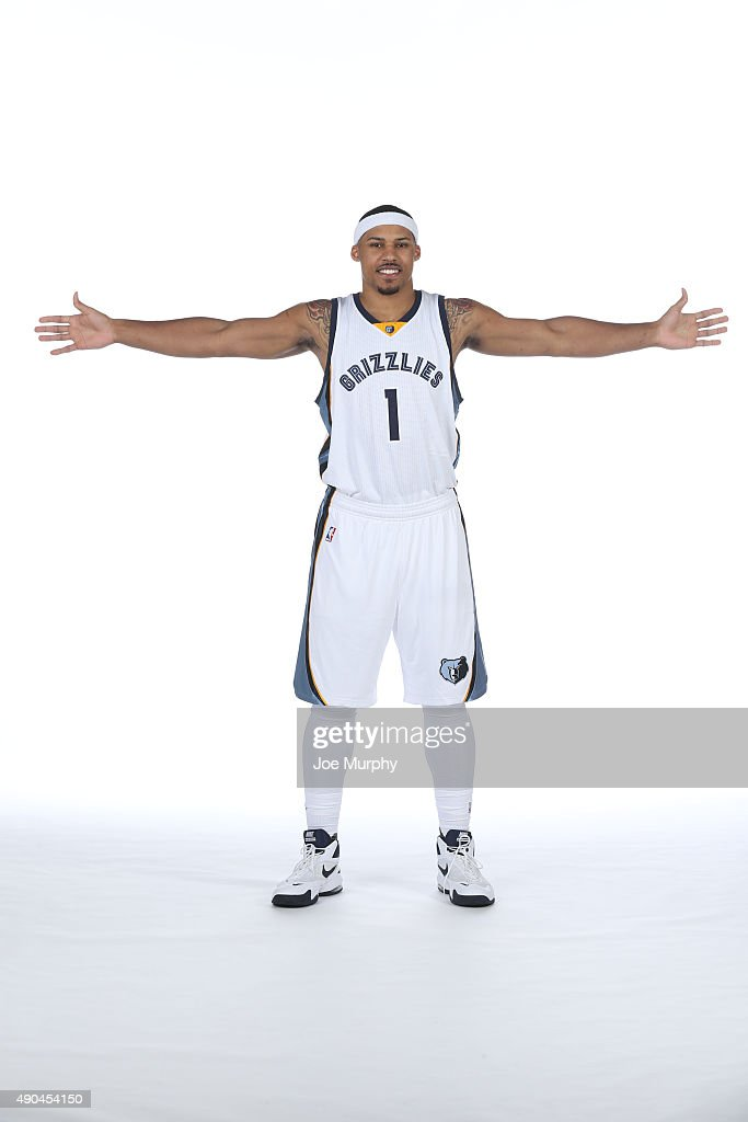 Jarnell Stokes #1 of the Memphis Grizzlies poses for a portrait during their 2015 media day at FedExForum on September 28, 2015 in Memphis, Tennessee.