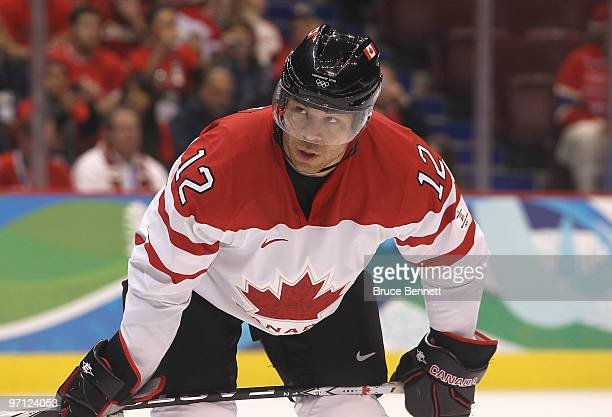 Jarome Iginla of Canada is seen during the ice hockey men's semifinal game between the Canada and Slovakia on day 15 of the Vancouver 2010 Winter...