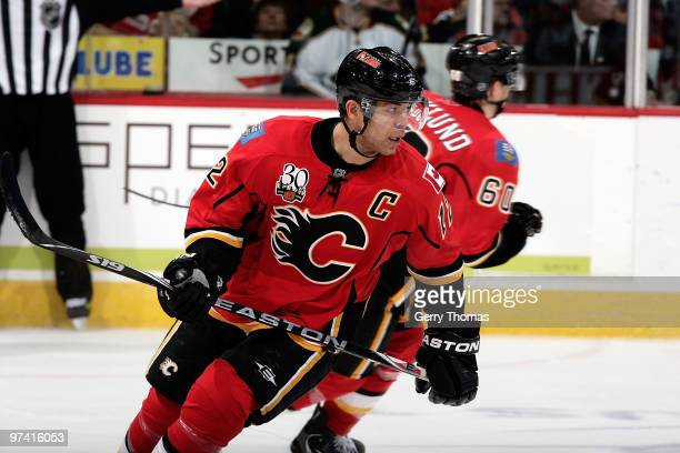 Jarome Iginla of the Calgary Flames skates against the Minnesota Wild on March 3 2010 at Pengrowth Saddledome in Calgary Alberta Canada