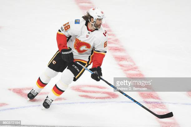 Jaromir Jagr of the Calgary Flames skates on ice during a game against the Los Angeles Kings at STAPLES Center on October 11 2017 in Los Angeles...
