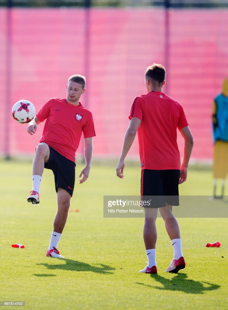 Jarosaw Kubicki of Poland during the Polish U21 national team training at Arena Lublin Training ground on June 18, 2017 in Lublin, Poland.