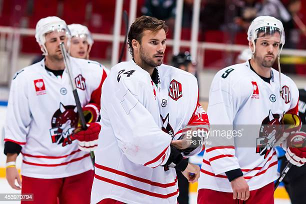 Jaroslav Hubl of Bolzano looks on during the Champions Hockey League group stage game between TPS Turku and HC Bolzano on August 22 2014 in Turku...