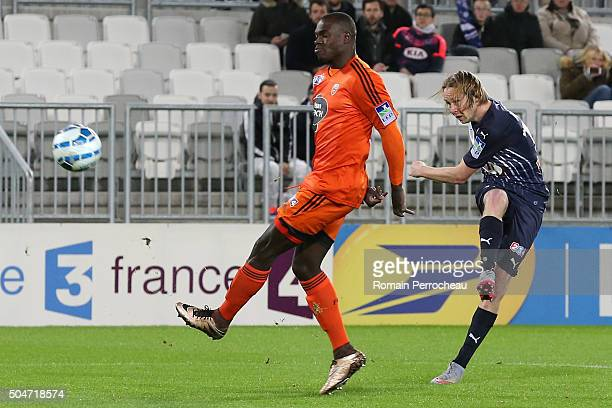Jaroslav Plasil for Bordeaux in action during the French League Cup quarter final between Bordeaux and Lorient at Stade Matmut Atlantique on January...