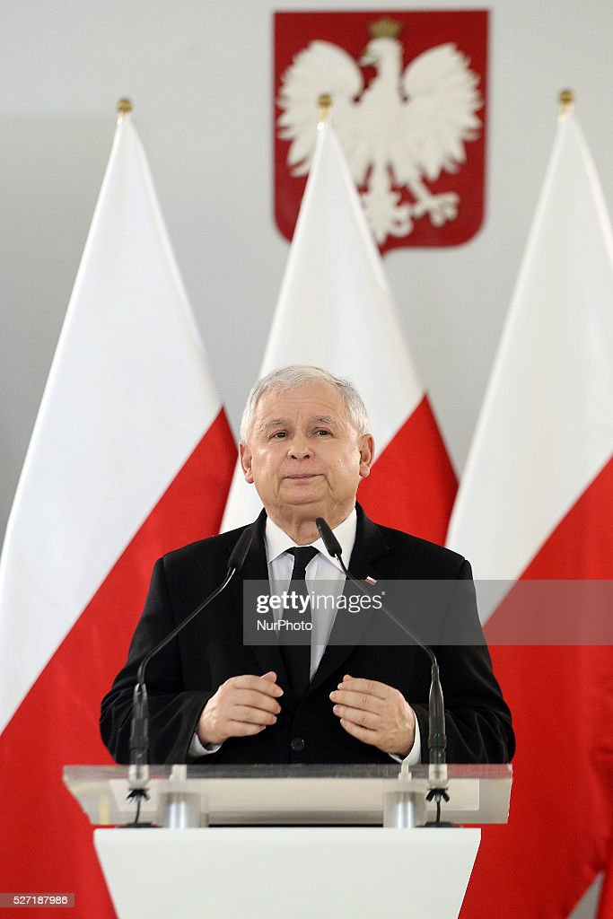 Jaroslaw Kaczynski speech in the Polish Parliament, in Warsaw, Poland, on May 2, 2016.