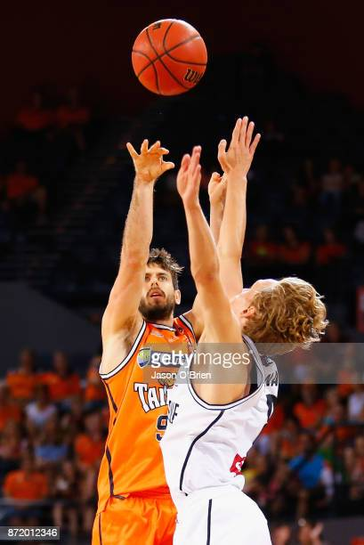 Jarrad Weeks of the Taipans in action during the round six NBL match between the Cairns Taipans and Melbourne United at Cairns Convention Centre on...