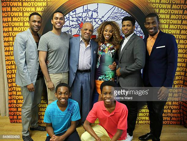 Jarran Muse Jesse Nager Berry Gordy Allison Semmes Joey Stone Marq Moss Leon Outlaw Jr and JJ Bateast appear during the 'Motown The Musical' On...