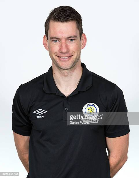Jarred Gillett poses during the 2015/16 FFA Referee headshot session at AIS on August 22 2015 in Canberra Australia