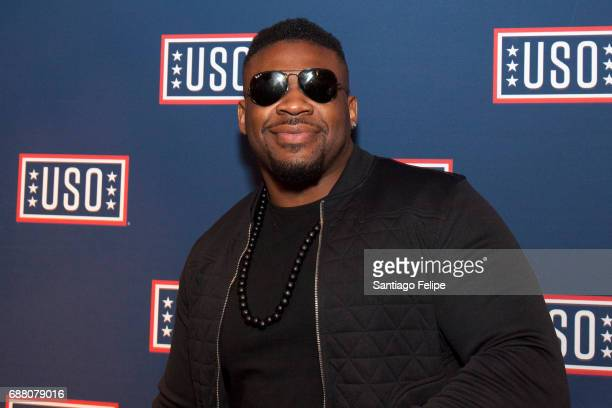 Jarrell Miller attends Fleet Week NY 2017 Official KickOff Party at Hard Rock Cafe New York on May 24 2017 in New York City