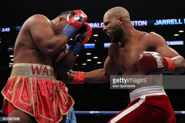 Jarrell Miller defeated Gerald Washington by tko on July 29 at the Barclays Center in Brooklyn NY