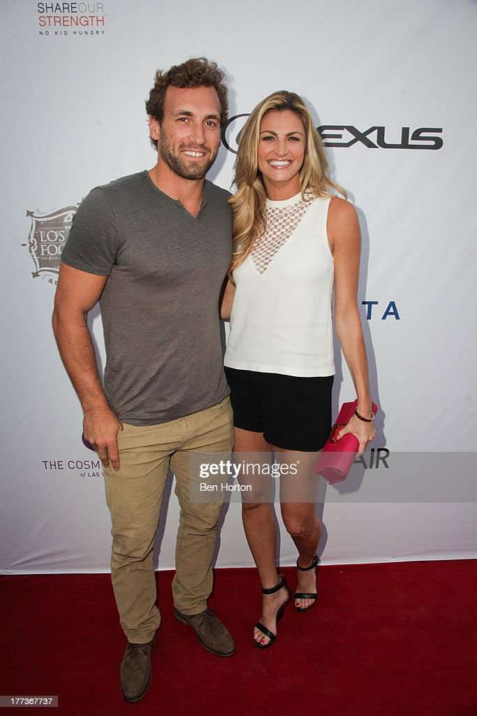 Jarret Stoll and sportscaster Erin Andrews attends the Festa Italiana with Giada de Laurentiis opening night celebration of the third annual Los Angeles Food & Wine Festival on August 22, 2013 in Los Angeles, California.