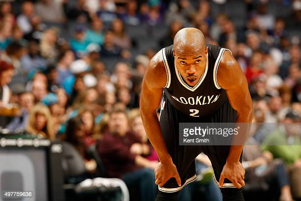 Jarrett Jack of the Brooklyn Nets during the game against the Charlotte Hornets at the Time Warner Cable Arena on November 18 2015 in Charlotte North...