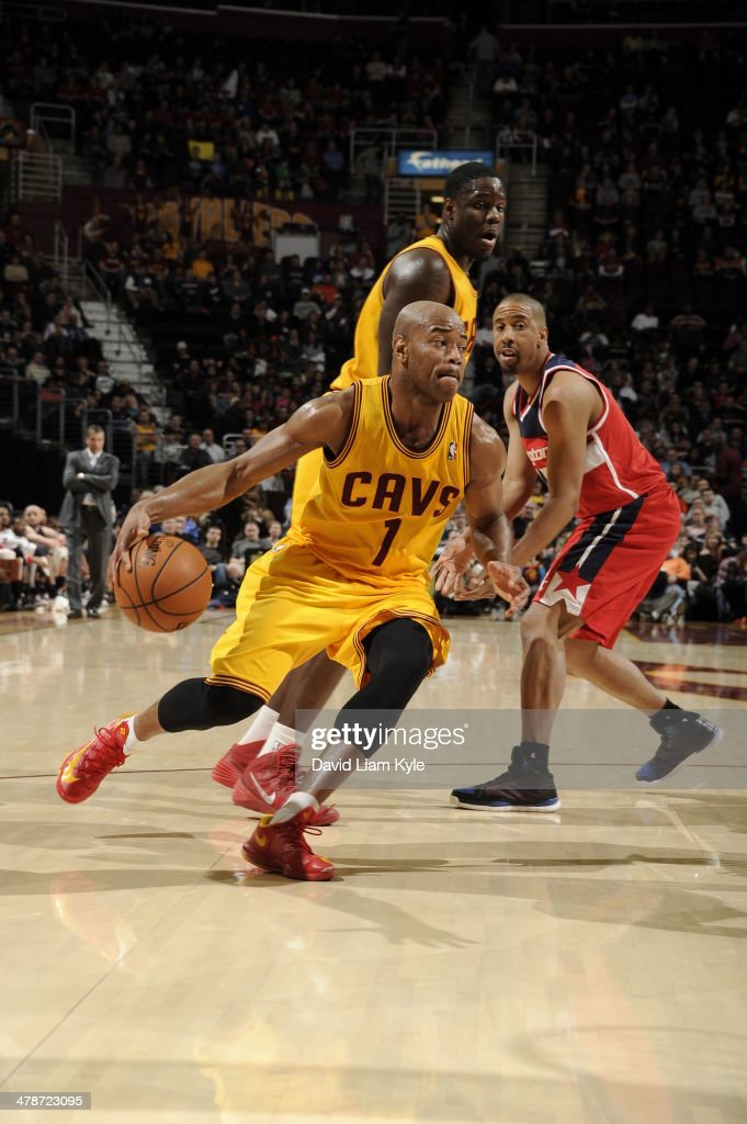 <a gi-track='captionPersonalityLinkClicked' href=/galleries/search?phrase=Jarrett+Jack&family=editorial&specificpeople=208109 ng-click='$event.stopPropagation()'>Jarrett Jack</a> #1 of the Cleveland Cavaliers handles the ball against the Washington Wizards at The Quicken Loans Arena on February 23, 2014 in Cleveland, Ohio.