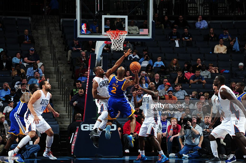 <a gi-track='captionPersonalityLinkClicked' href=/galleries/search?phrase=Jarrett+Jack&family=editorial&specificpeople=208109 ng-click='$event.stopPropagation()'>Jarrett Jack</a> #2 of the Golden State Warriors drives to the basket against the Charlotte Bobcats at Time Warner Cable Arena on December 10, 2012 in Charlotte, North Carolina.