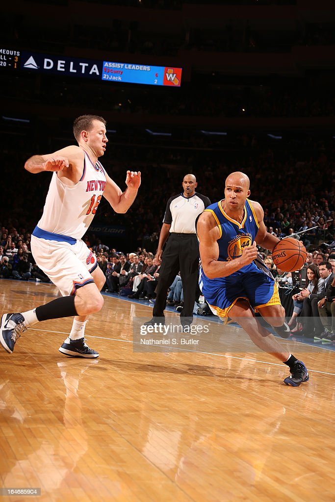 <a gi-track='captionPersonalityLinkClicked' href=/galleries/search?phrase=Jarrett+Jack&family=editorial&specificpeople=208109 ng-click='$event.stopPropagation()'>Jarrett Jack</a> #2 of the Golden State Warriors drives to the basket against the New York Knicks on February 27, 2013 at Madison Square Garden in New York City.