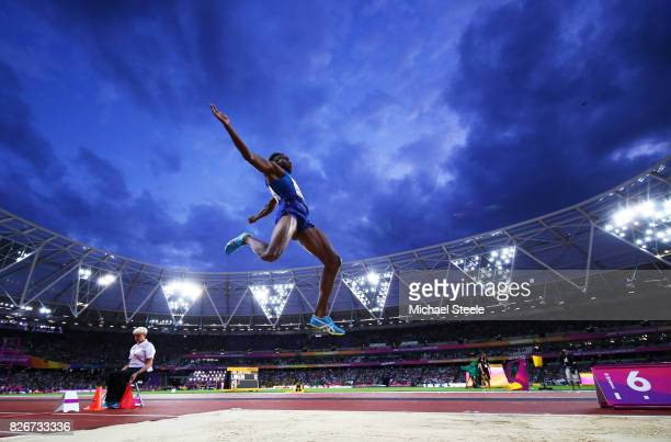 Jarrion Lawson of the United States competes in the Men's Long Jump final during day two of the 16th IAAF World Athletics Championships London 2017...