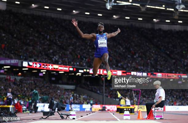 Jarrion Lawson of the United States in action in the Men's Long Jump final during day two of the 16th IAAF World Athletics Championships London 2017...