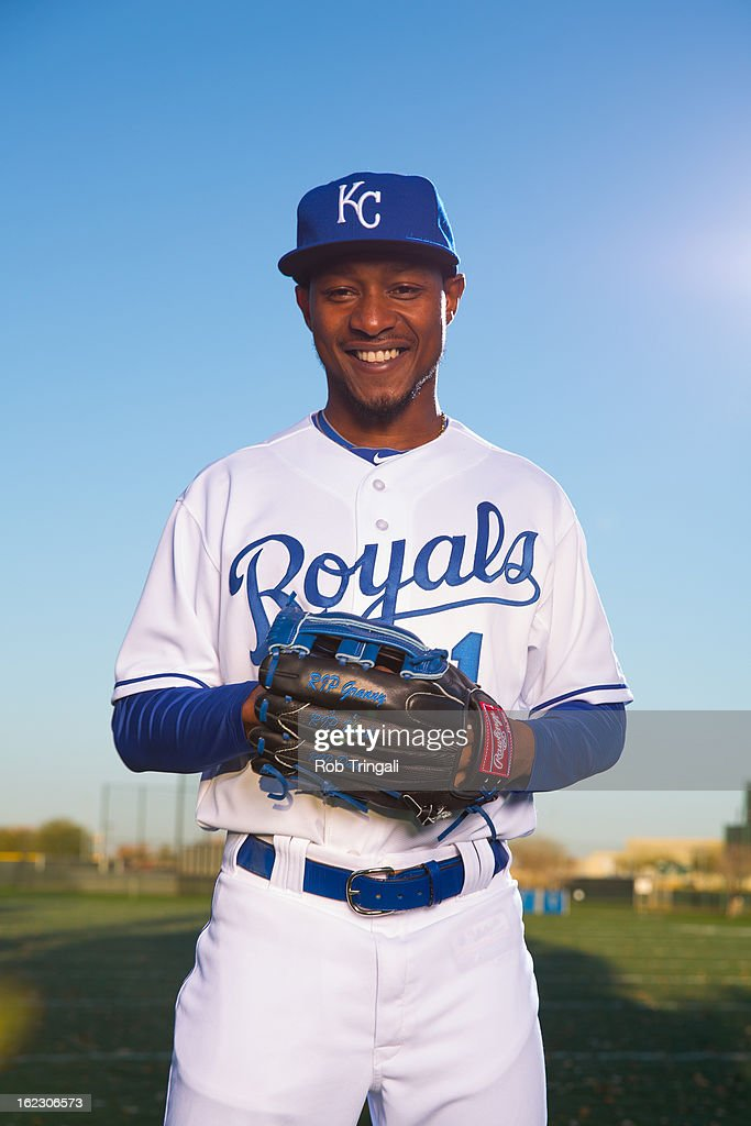 Jarrod Dyson #1 of the Kansas City Royals poses for a portrait on photo day at the Surprise Sports Complex on February 21, 2013 in Surprise, Arizona.