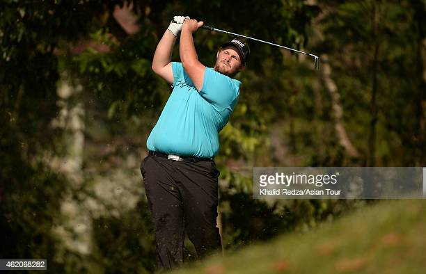 Jarrod John Freeman of Australia in action during round four of the Asian Tour Qualifying School presented by Sports Authority of Thailand at the...