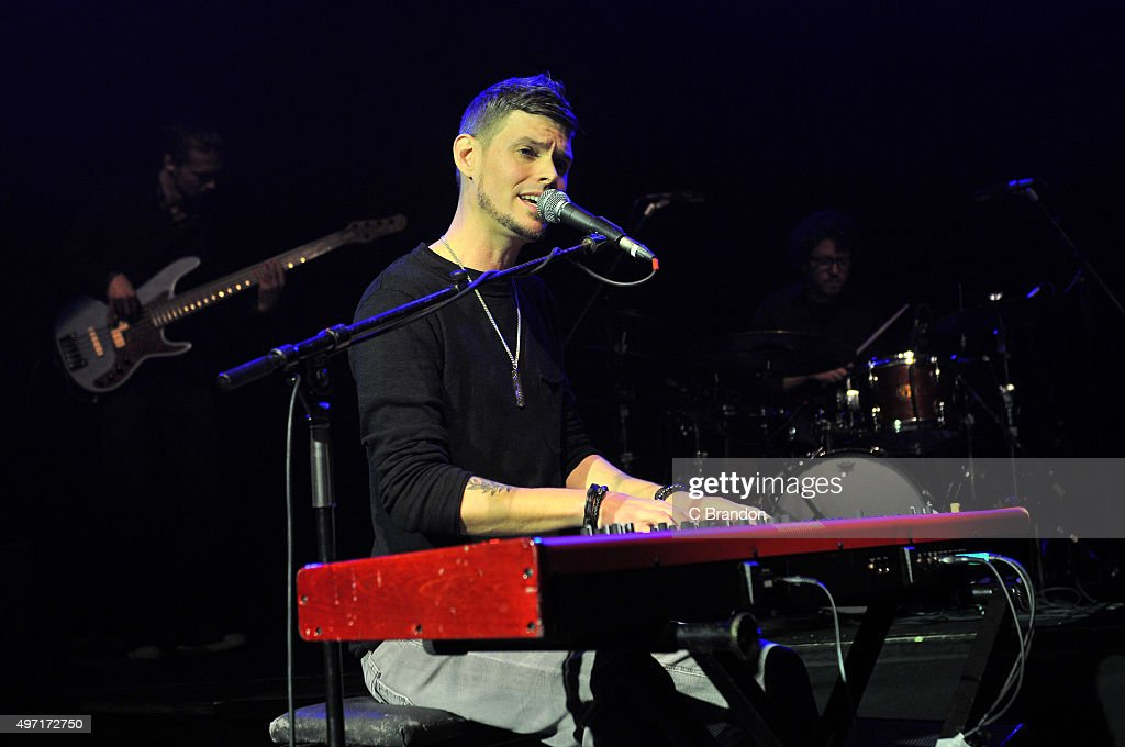 Jarrod Lawson performs on stage at the O2 Shepherd's Bush Empire on November 14 2015 in London England