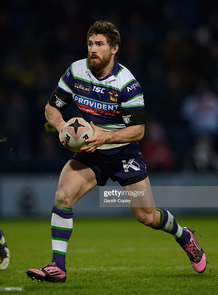 Jarrod Sammut of Bradford during Rugby League pre-season friendly between Leeds Rhinos and Bradford Bulls at Headingley Stadium on January 20, 2013 in Leeds, England.