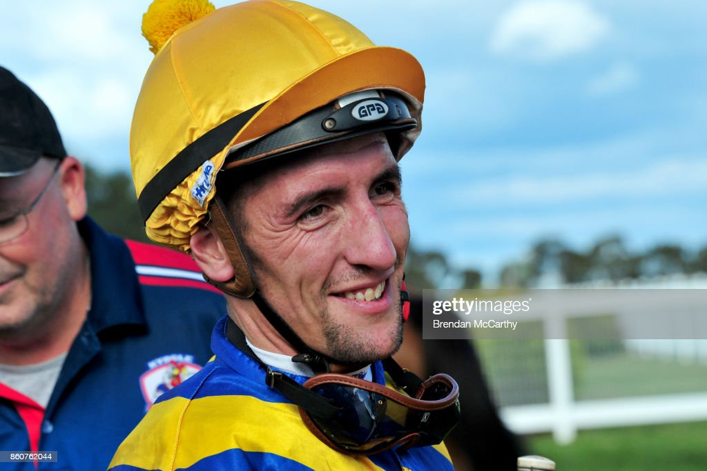 Jarrod Todd after winning the Pea Co BM64 Handicap at Donald Racecourse on October 13, 2017 in Donald, Australia.