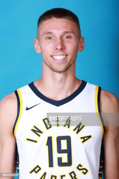 Jarrod Uthoff of the Indiana Pacers poses for a head shot during media day at Bankers Life Fieldhouse on September 25 2017 in Indianapolis Indiana...