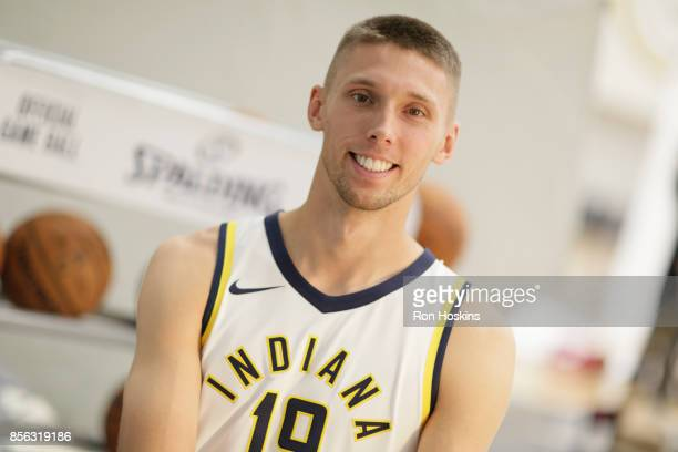 Jarrod Uthoff of the Indiana Pacers poses for a portrait during the Pacers Media Day at Bankers Life Fieldhouse on September 25 2017 in Indianapolis...