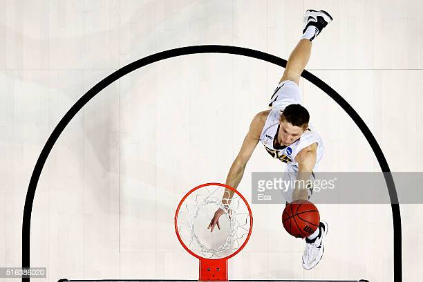 Jarrod Uthoff of the Iowa Hawkeyes shoots against the Temple Owls during the first round of the 2016 NCAA Men's Basketball Tournament at Barclays...
