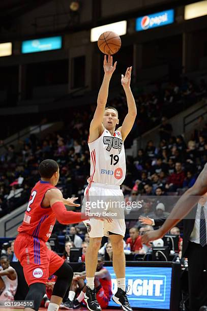 Jarrod Uthoff of the Raptors 905 shoots the ball against the Grand Rapids Drive as part of 2017 NBA DLeague Showcase at the Hershey Centre on January...