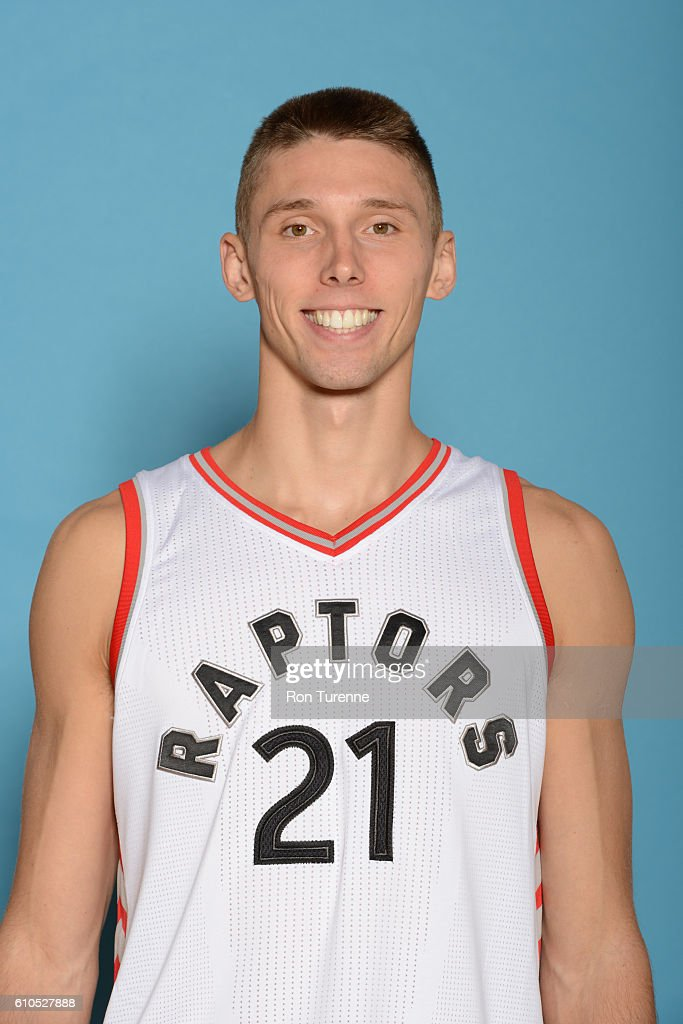 Jarrod Uthoff #21 of the Toronto Raptors poses for a head shot during the 2016-2017 Media Day on September 26, 2016 at the BioSteel Centre in Toronto, Ontario, Canada.