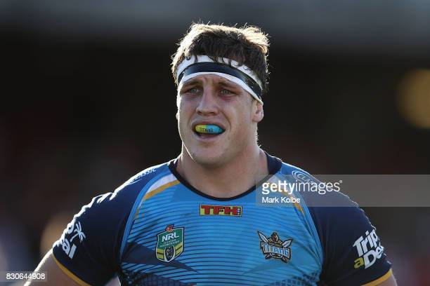 Jarrod Wallace of the Titans looks on during the round 23 NRL match between the St George Illawarra Dragons and the Gold Coast Titans at UOW Jubilee...